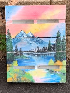Landscape on Wooden Pallet - ArtisticalTalents