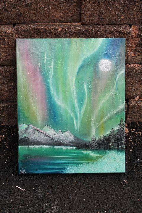 Northern Lights above Alaskan Water - ArtisticalTalents