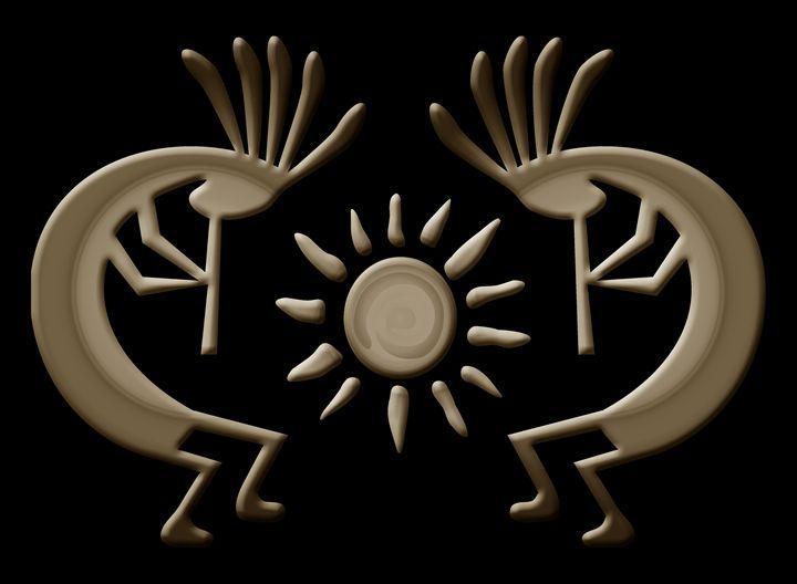 Kokopelli Faux Metallic - Charmaine Paulson Art