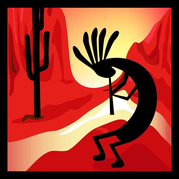 Kpkopelli Desert Sunset - Charmaine Paulson Art