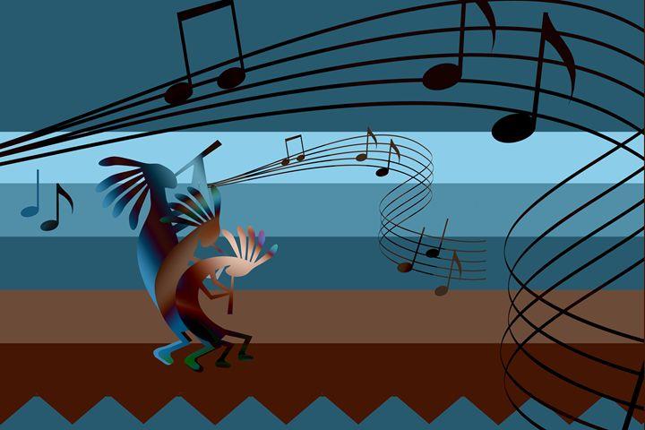 Kokopelli Southwest Music - Charmaine Paulson Art