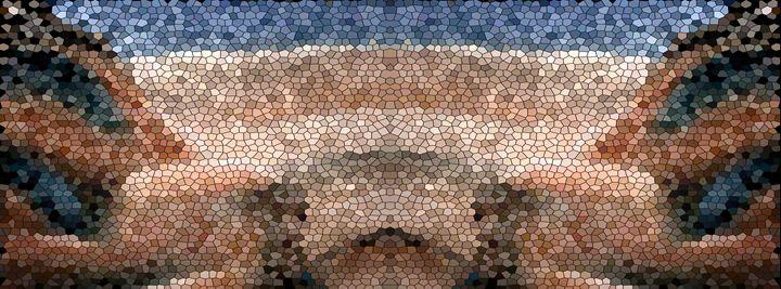 Southwest Mosaic Landscape Panel - Charmaine Paulson Art