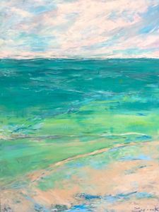 Green Seascape - Zegarek Art