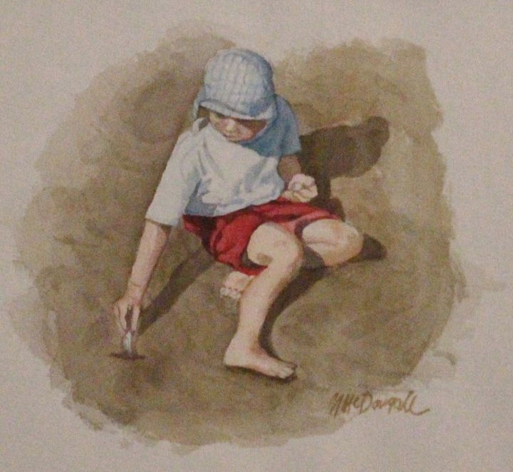Boy with Clam Shell - Michael McDougall