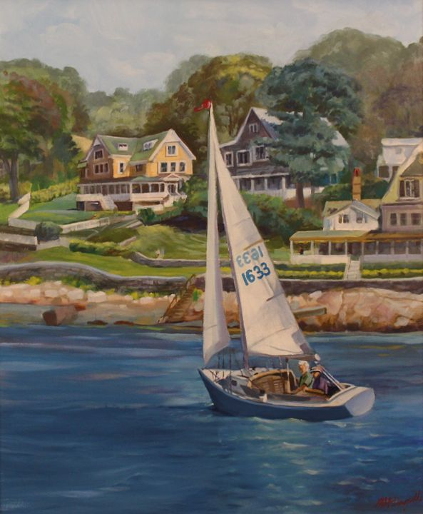 Sailing on the Annisquam River - Michael McDougall