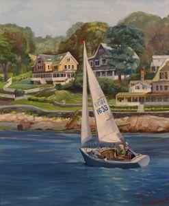 Sailing on the Annisquam River
