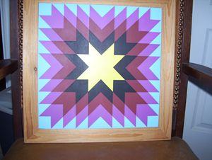 starburst quilt art