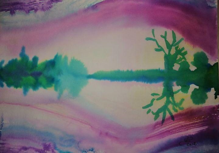 River twilight - ArtGalerieVicente