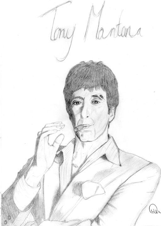 Tony Montana - Jitraj Singh Artwork
