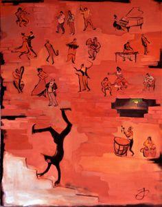 The Theatre. Musicians.