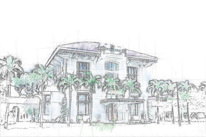 Avros Building - Sketch Art