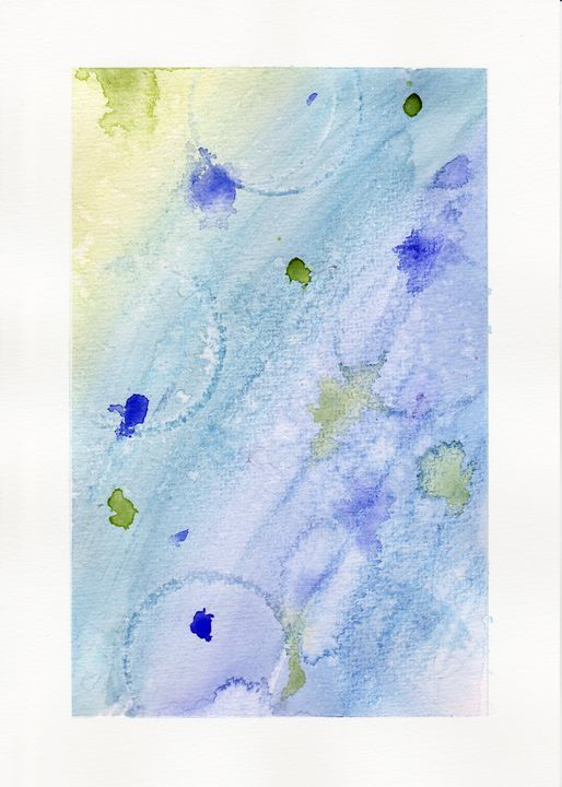 Blue Experiment in Watercolor - Linda Ursin