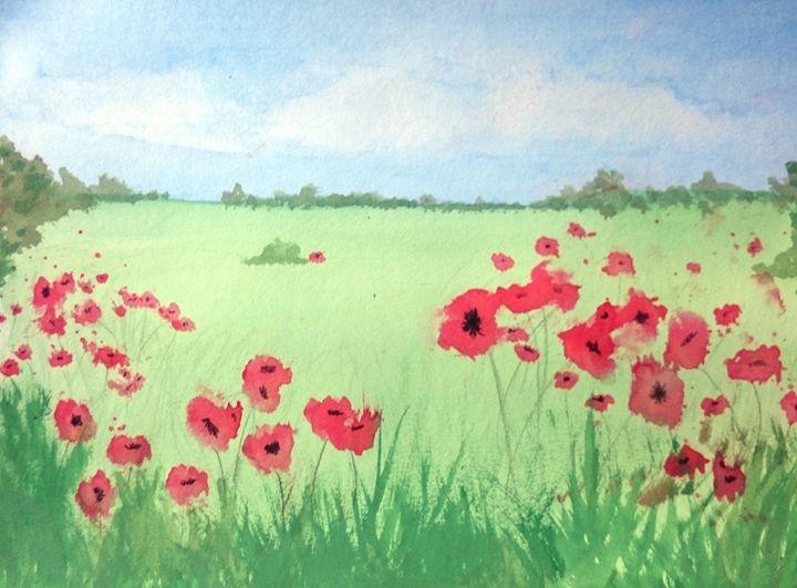 Poppy Field - Linda Ursin