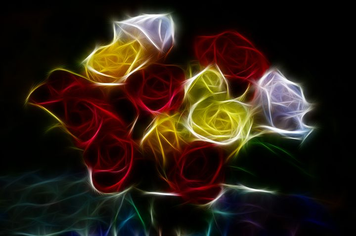 Colored Roses - Jus4fundesigns