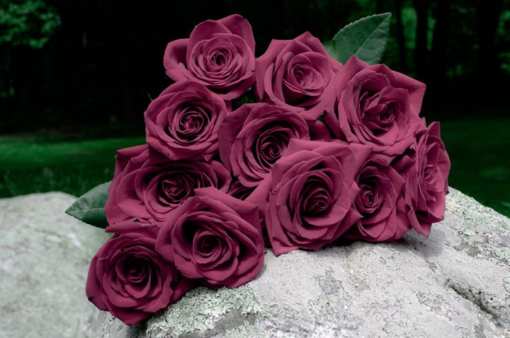 Mauve Rose Bunch - Jus4fundesigns