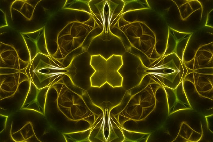 Abstract Yellow & Green 2 - Jus4fundesigns