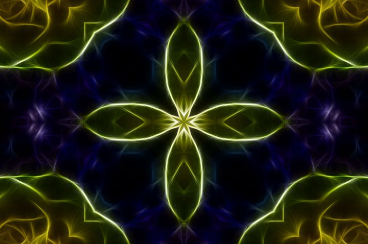 Abstract Yellow Cross - Jus4fundesigns