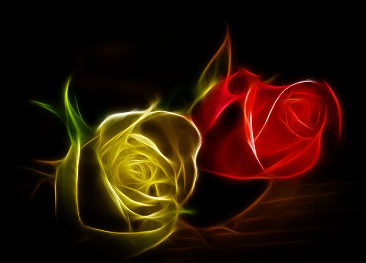 Lighted Roses - Jus4fundesigns