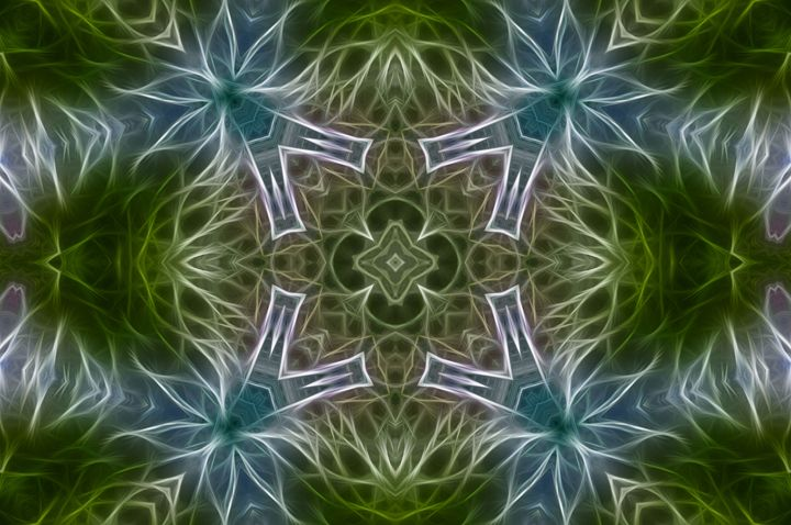Abstract Blue & Green 5 - Jus4fundesigns
