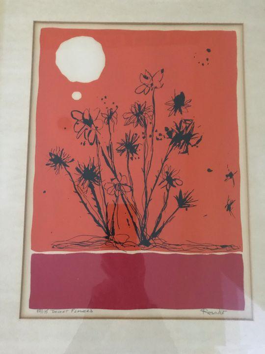 Victor Rosado Desert Flowers - Vintage Art