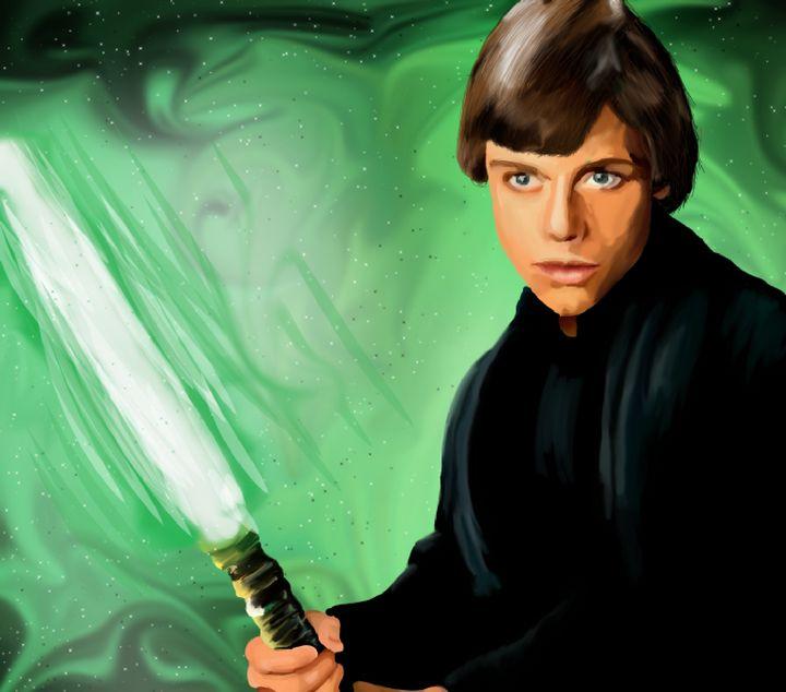 Luke Skywalker - Art By Josette