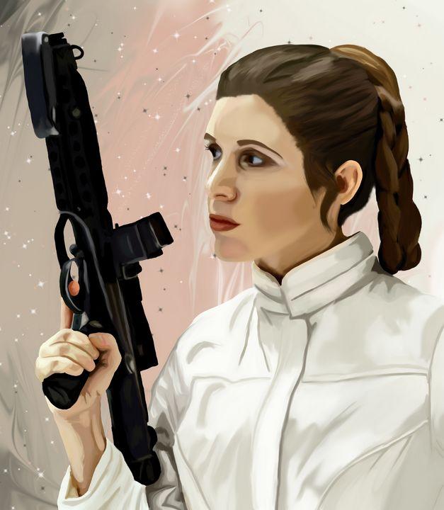 Princess Leia - Art By Josette