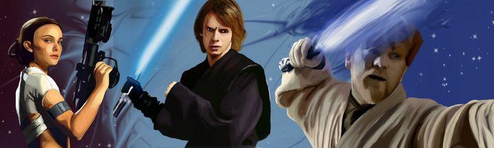 Star Wars Prequel Characters - Art By Josette
