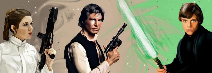 Star Wars Original Trilogy Character - Art By Josette
