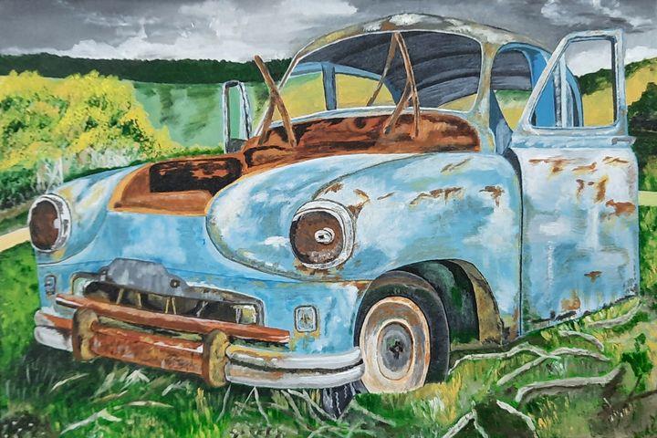 Vintage Wrecked Car - Tejal Bhagat