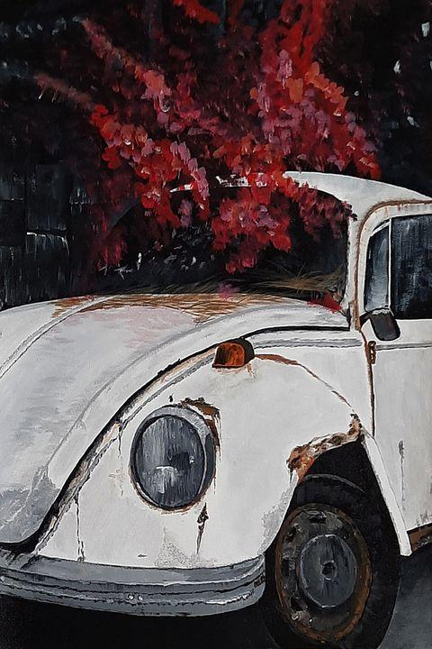 White Rusty Car - Tejal Bhagat