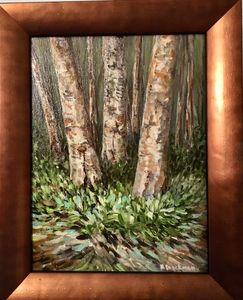 The Three Birches I Watch Each Year - Brockmon Fine Art