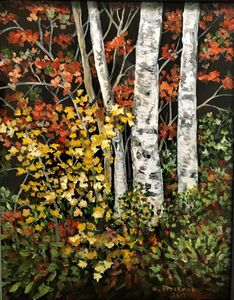 Three Young Birches