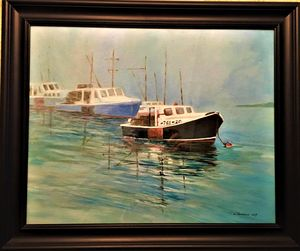 Lobster Boats in the Fog