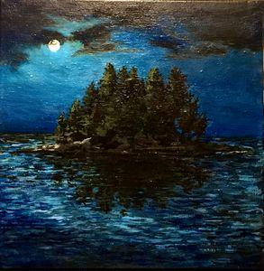 Full Moon Over the Island