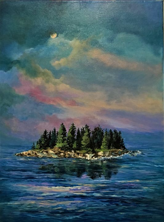 Sheep Island at Dusk - Brockmon Fine Art