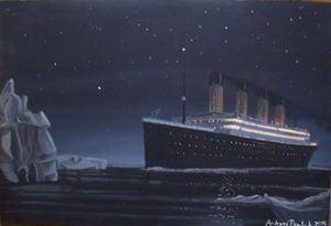Titanic night scene