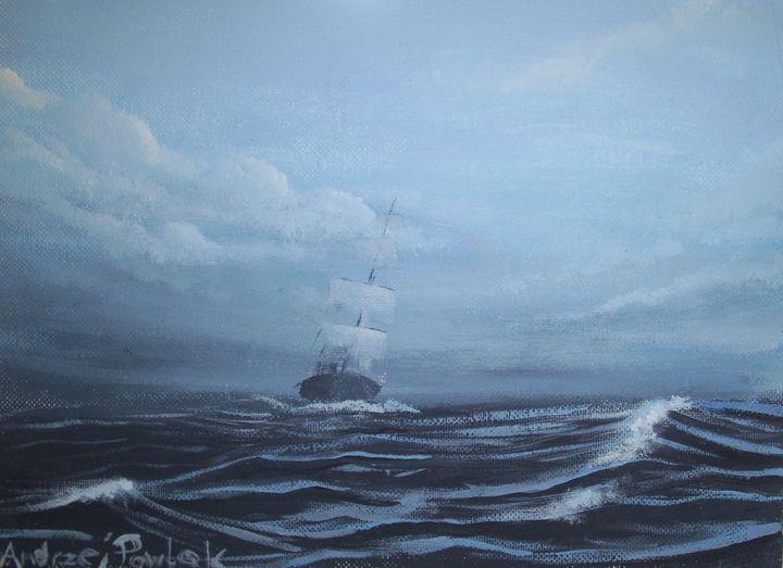 Ship at sea - Andrzej Pawlak