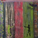Spray paint on canvas