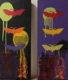 Spray paint art on Boxwood