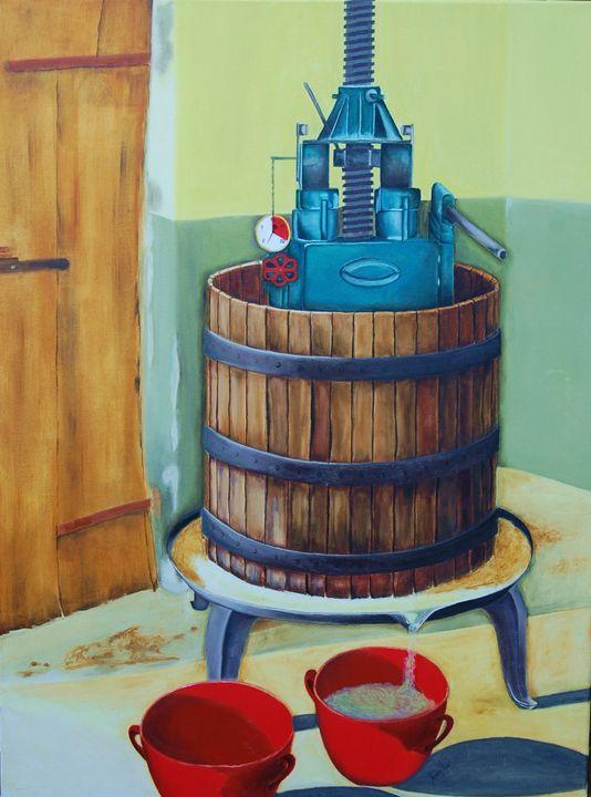 White wine grape press - Sandra Stojack Fine Art