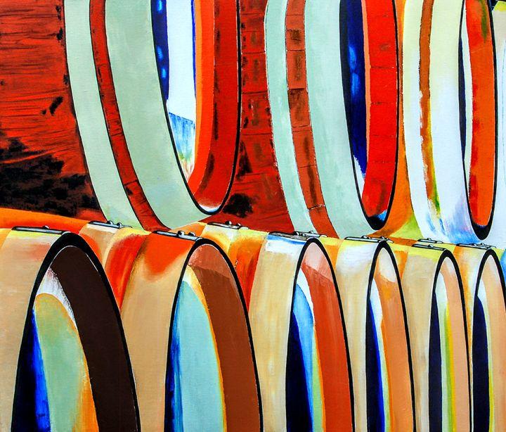 Psychedelic Barrels of Spirits LARGE - Sandra Stojack Fine Art