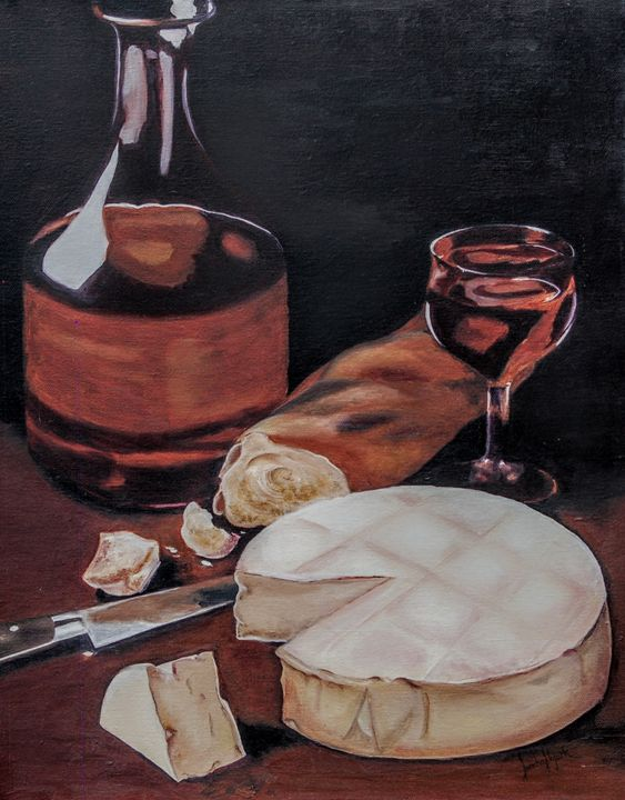 Wine & Cheese indulgence - Sandra Stojack Fine Art