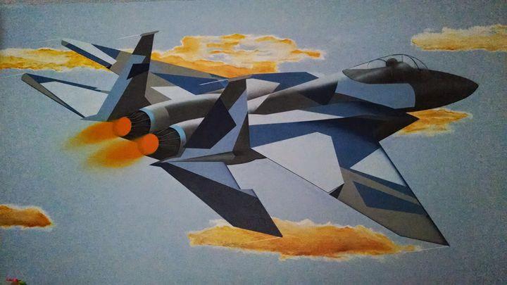 F-15 fighter jet sky shot - Sandra Stojack Fine Art