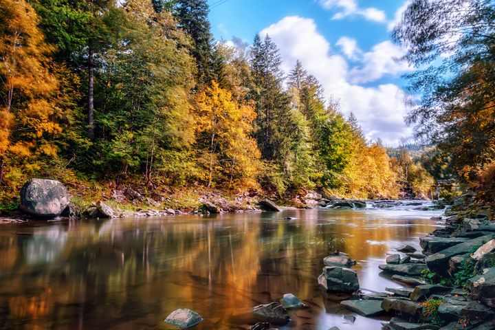 Mountain stream - Serhii Simonov photographer