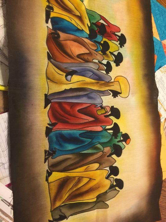 Black Jesus Last Supper Janes Collection Paintings Prints