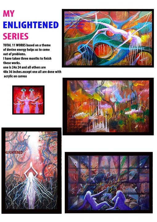 my first five works on enlightened . - Artistthanthri
