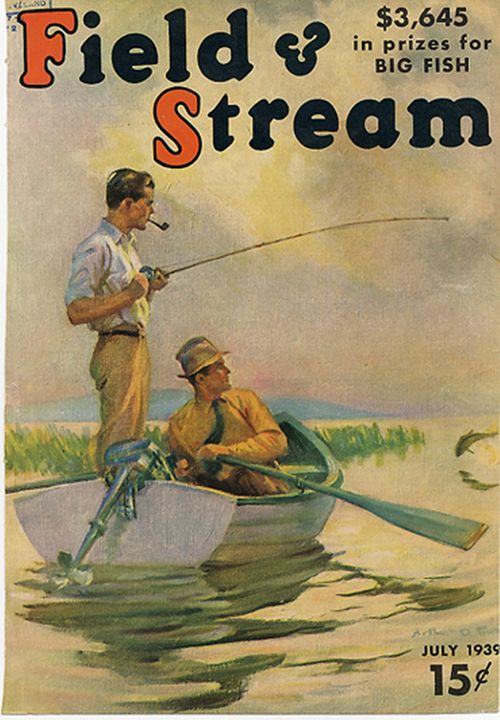Field and Stream July 1939 - paintings