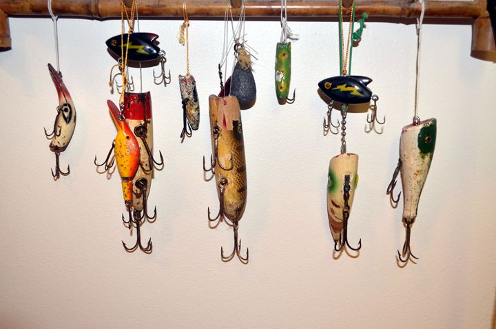 Antique Fishing lures - paintings