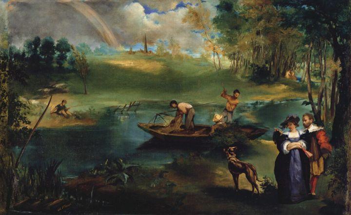 Édouard Manet - Fishing - paintings