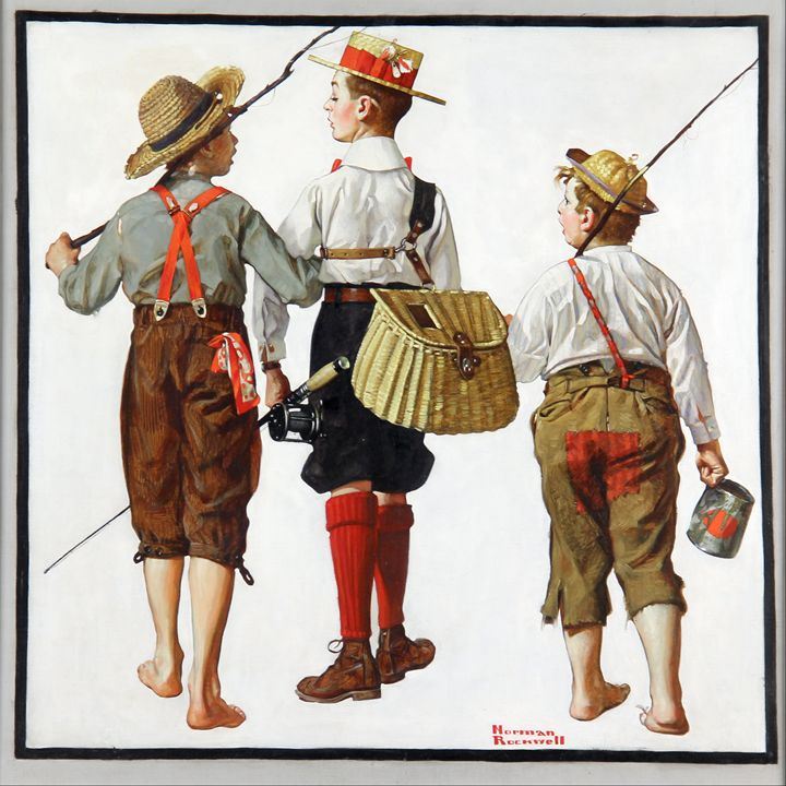 Gone Fishing, They Will be Back - paintings